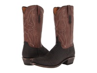 Lucchese M3105.74 Chocolate Sanded Shark Cowboy Boots Tan