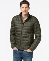 Tommy Hilfiger Nylon Packable Jacket Olive