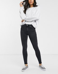 Pieces Delly High Waisted Black Skinny Jeans