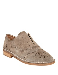 Steve Madden Deven Suede Brogue Oxfords Beige