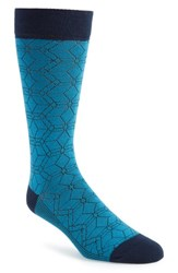 Ted Baker London Geo Socks Blue