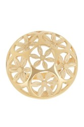 Trina Turk Domed Flower Cocktail Ring Metallic