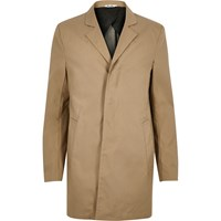 Only And Sons River Island Mens Brown Trench Coat