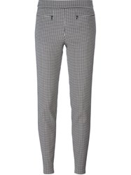 Emporio Armani Houndstooth Pattern Trousers Black