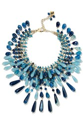 Rosantica Antica Gold Tone Multi Stone Necklace Blue