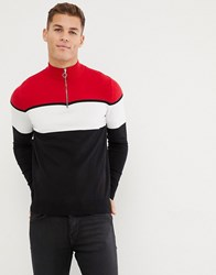 New Look Jumper With Funnel Neck In Red Bright Red