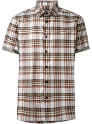 Raf Simons Checked Shortsleeved Shirt Brown