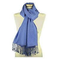 Forzieri Ocean Blue Pashmina And Silk Shawl