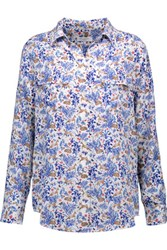 Equipment Printed Washed Silk Top Multi