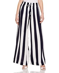Splendid Striped Wide Leg Pants Navy White