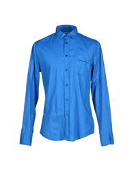 Bikkembergs Shirts Bright Blue