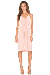 Misa Los Angeles Domino Tie Front Mini Dress Coral