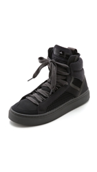 Adidas By Stella Mccartney Mid Cut High Top Sneakers Core Black Raven Silver