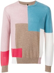 Santoni Colour Block Jumper Multicolour