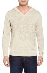 Tommy Bahama 'S Big And Tall Palmetto Hooded Pullover Natural Heather