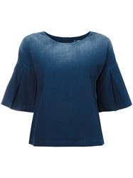 7 For All Mankind Denim Top Blue