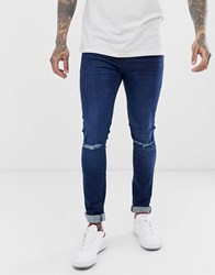 New Look Ripped Jeans In Indigo Navy