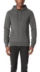 Reigning Champ Mid Weight Terry Side Zip Hoodie Heather Charcoal