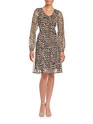 Cynthia Steffe V Neck Long Sleeve Dress Sugar Maple