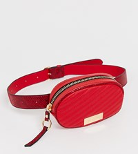 River Island Round Belt Bag In Red