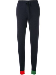 Chinti And Parker Contrasting Cuffs Track Pants Blue