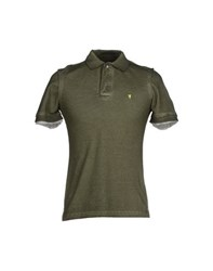 Jaggy Topwear Polo Shirts Men Military Green