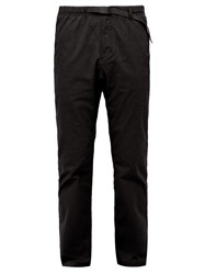 Gramicci Belted Stretch Cotton Twill Trousers Black