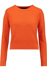 Marc By Marc Jacobs Ivy Wool Cashmere And Angora Blend Sweater Bright Orange