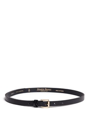 Maison Boinet Skinny Cowhide Leather Belt Black