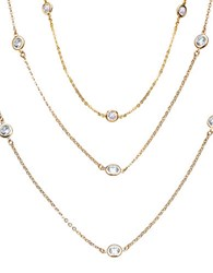 Crislu Dby Handset Sterling Silver Layered Necklace