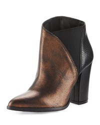 Charles David Charla Asymmetric Skived Leather Bootie Bronze