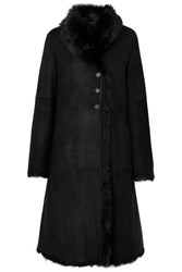 Joseph Luke Shearling Coat Black