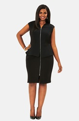 Mynt 1792 Peplum Dress Plus Size Black