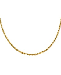 Macy's 14K Gold Necklace 24' Seamless Diamond Cut Rope Chain