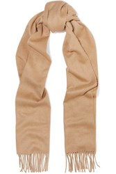 Johnstons Of Elgin Fringed Cashmere Scarf Camel