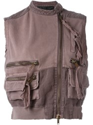 Haider Ackermann 'Perth' Cropped Vest Pink And Purple
