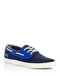 Lacoste Jouer Boat Shoe Lace Up Sneakers Navy