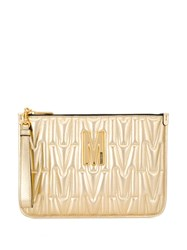 Moschino Monogram Quilted Clutch 60