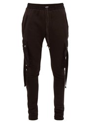 Amiri Cotton Jersey Cargo Track Pants Black