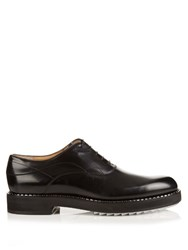 Fendi Heavy Soled Leather Derby Shoes Black