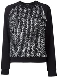 Giambattista Valli Flocked Effect Sweatshirt Black