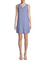 Beach Lunch Lounge Striped Shift Dress Blueberry