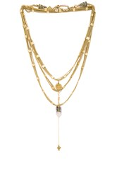 Vanessa Mooney Schools Out For Summer Chain Choker Metallic Gold