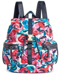 Tommy Hilfiger Quilted Nylon Backpack Rose Multi
