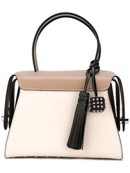Tod's Twist Boston Tote Nude Neutrals
