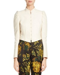 Dries Van Noten Bach Structured Hook Front Jacket Neutral Neutral Pattern