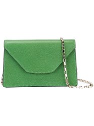 Valextra Mini 'Iside Chain' Crossbody Bag Green