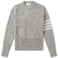 Thom Browne Classic Donegal Short Crew Knit Grey
