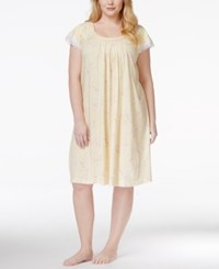 Charter Club Plus Size Lace Trim Nightgown Only At Macy's