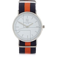 River Island Mens Orange Stripe Watch